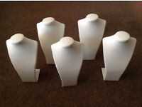 Jewellery Display Busts / Stands White Leatherette 28 items