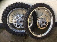 "KTM Enduro wheels 18"" & 21"" mint condition"