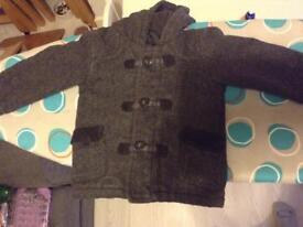 Boys 18-24 Grey Tweed Coat