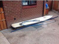 Wind surf board complete