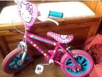 "Hello Kitty girls bike 12"" wheels"