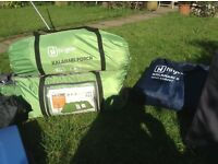 8 birth tent and camping equipment also 5x3 trailer all in good condition