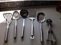 Set of six kitchen utensils