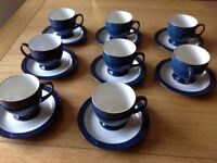 Denby Imperial Blue Tea Set & Sugar Bowl