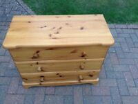 Pine Chest of Drawers - suitable for upcyling