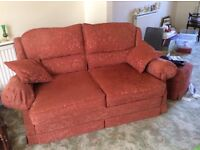 3 Piece Suite and Footstool