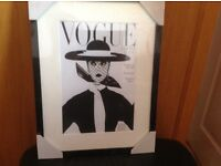 New Vogue Print in Picture Frame