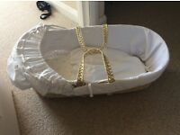 Moses Basket and mattress protectors from John Lewis