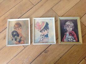 3 vintage prints 23cm X 20 cm