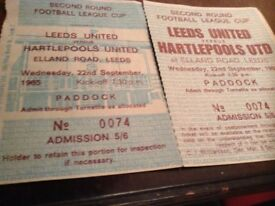 Leeds United rare tickets from 1965