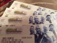 Darts at Ally Pally, 4 table tickets for the opening night, this Thursday 14 December