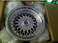 """16"""" Staggered Lenso Bbs Rs Wheels 7.5/9j rears"""