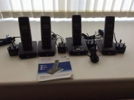 BT Synergy 5500 Digital Cordless Phone System with 4 handsets and Answer Machine