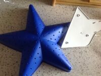 IKEA BLUE STAR WALL LIGHT NEW