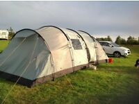 Vango Tigris 8 Man Tent with Canopy, Carpet, Foot print and all accessories in excellent condition