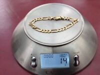 9 ft gold bracelet
