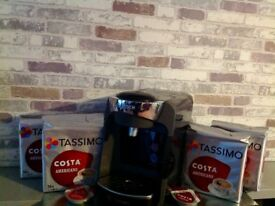 Tassimo Suny TAS3202GB 3 Cups Coffee machine hot drinks bundle