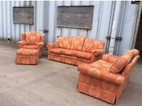 Fabric 1, 2 & 3 And Foot Stool Sofa set £150 Inc Free Local Delivery -used
