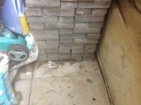Slater grey paving bricks