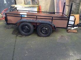 Trailer four wheels ladder rack jockey wheel x painters