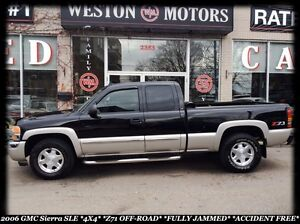 2006 GMC Sierra 1500 SLE *4x4 *Z71 OFF-ROAD *LEATHER *BT *ACCIDE