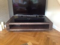 Glass Topped Modern Coffee Table - 12 months old in as new condition...