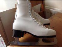 White leather Figure skates