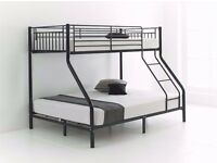 - 14 DAYS MONEY BACK GUARANTEE - TRIO SLEEPER BUNK BED FRAME WITH BRAND NEW MATTRESSES - CALL NOW !!