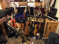 MASSIVE SALE OF MUSICAL INSTRUMENTS AND MUSIC
