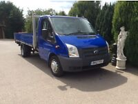 Transit 350 alloy dropside 14ft truck 6 speed box 2012