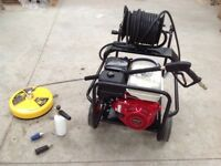 4,000 p.s.i. Pressure washer Honda with Hose Reel