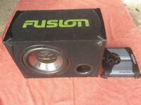 600w Fusion Subwoofer + Amp.
