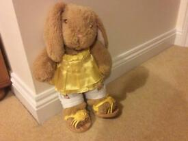 Build-a-bear Rabbit with outfit