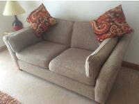 M an S suite consisting of two seater sofa,an extra large love seat chair and a matching poufe.