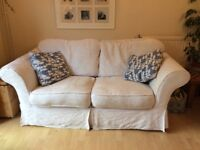 Beautiful white sofa with removable/washable covers.