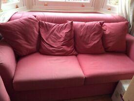 Red Ikea Sofa, 2m x 1.10m / sofa bed