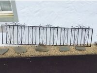 Wrought iron fence or gate panels