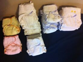 BUNDLE OF WASHABLE BAMBOO NAPPIES WITH COVERS & INSERTS