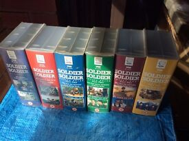 SOLDIER SOLDIER SERIES 1 to 4 on 12 VHS TAPES. Cash on collection.