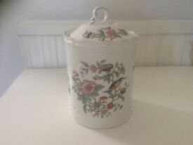 Aynsley Pembroke large jar with lid.