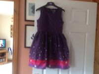 NAME IT purple star dress Age 10-11 years