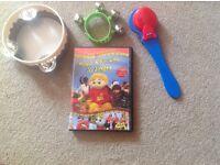 Jo jingles DVD & instruments