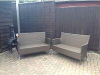 Stunning brown rattan garden chairs