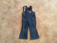 Denim dungarees 3-4 years excellent condition