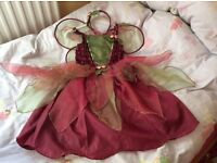 STUNNING MULBERRY FAIRY DRESS WITH MATCHING HEADBAND AND WINGS BNWT! Age 6-7