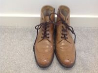 Gents Tan Leather Boots size 7