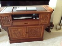 Beautiful carved tv cabinet
