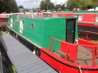 Narrow boat on London mooring '