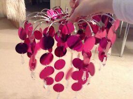 Chandelier Light Fixture, hot pink