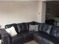 Immaculate and stunning Italian leather corner sofa 6 plus seeats